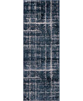 """Lexington Avenue Uptown Jzu003 Navy Blue 2'2"""" x 6' Runner Rug"""