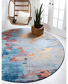 Tribeca Downtown Jzd005 Multi 8' x 8' Round Rug