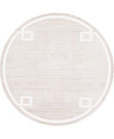 Lenox Hill Uptown Jzu005 Beige 8' x 8' Round Rug