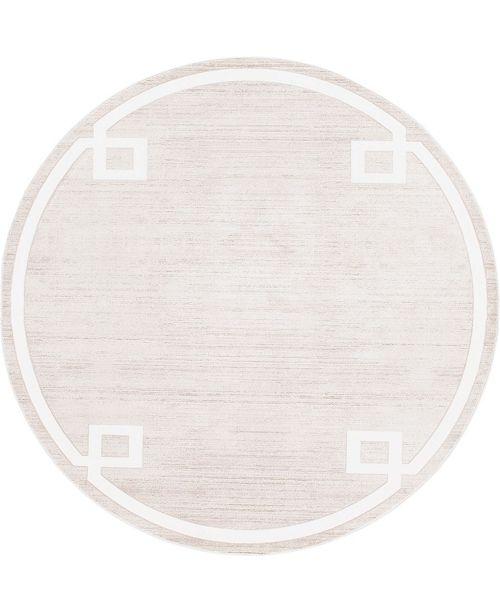 Jill Zarin Lenox Hill Uptown Jzu005 Beige 8' x 8' Round Rug