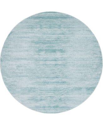 Madison Avenue Uptown Jzu001 Turquoise 8' x 8' Round Rug