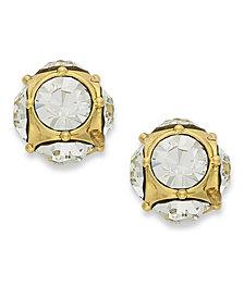 kate spade new york Earrings, 12k Gold-Plated Crystal Stud Earrings