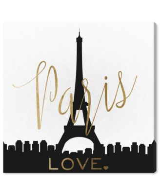 Paris Love Gold and Leather Canvas Art, 36