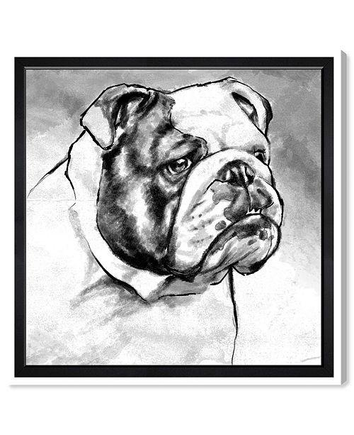 "Oliver Gal English Bulldog Canvas Art, 12"" x 12"""