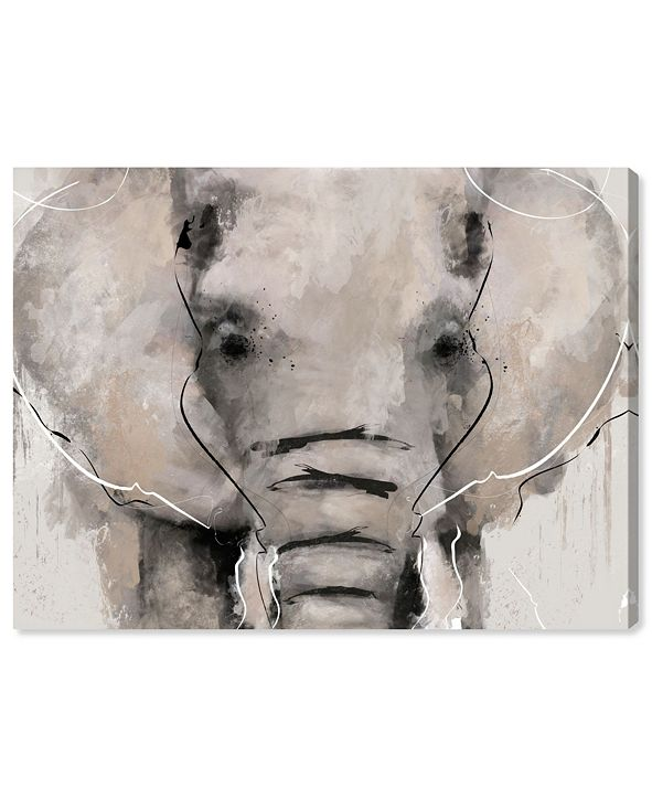 """Oliver Gal Abstract Elephant Canvas Art, 32"""" x 24"""""""