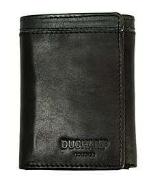 Men's RFID Genuine Leather Tri-Fold Wallet