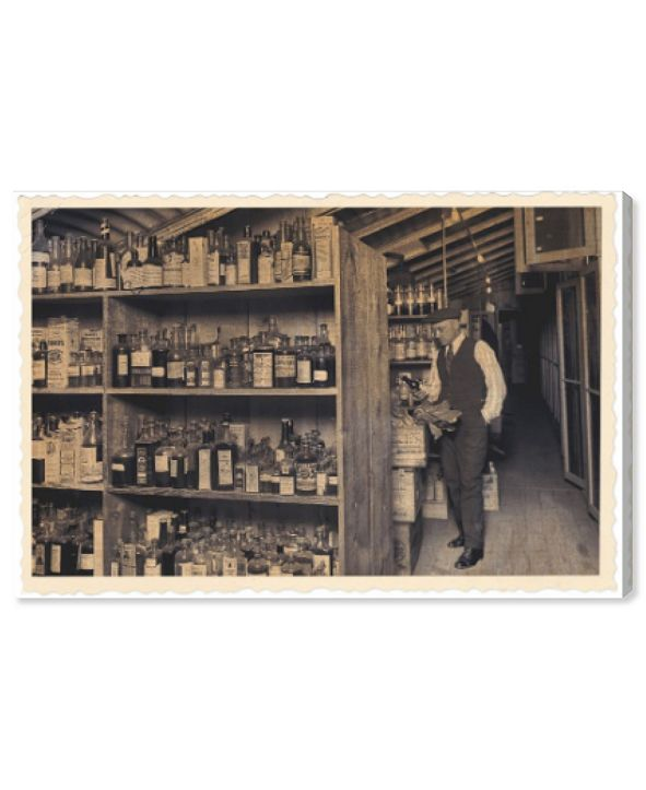 "Oliver Gal All Those Old Bottles Canvas Art, 36"" x 24"""