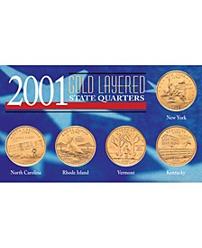 2001 Gold-Layered State Quarters