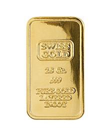 American Novelty Coin Treasures2.5 Gram Brass Swiss Ingot Tribute Layered in 24KT Gold