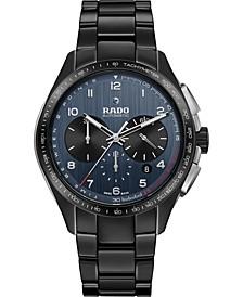 Men's Swiss Automatic Chronograph HyperChrome Match Point Black High-Tech Ceramic Bracelet Watch 45mm