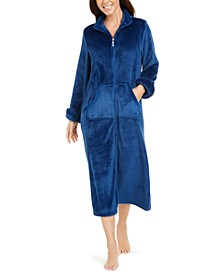 Fleece Long Zipper Robe