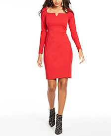 Notched-Neck Sheath Dress, Created For Macy's