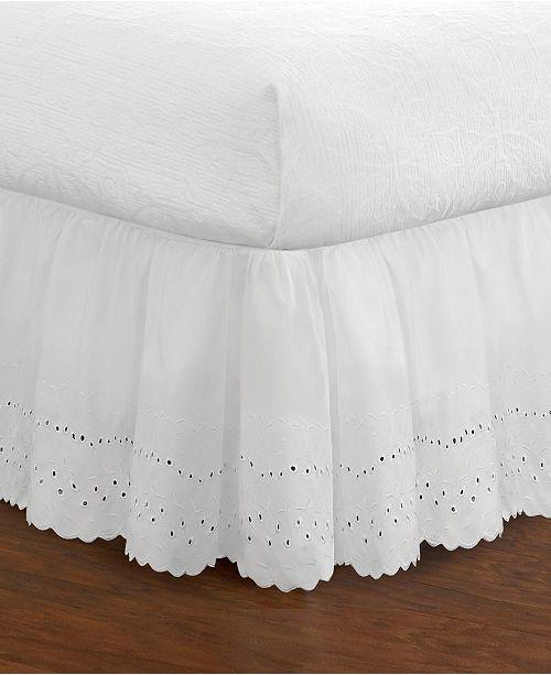 Levinsohn Textiles Fresh Ideas Ruffled Eyelet Full Bed Skirt