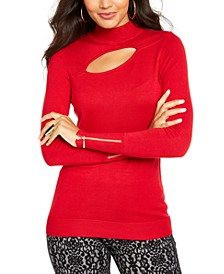 Cutout Mock-Neck Sweater, Created For Macy's