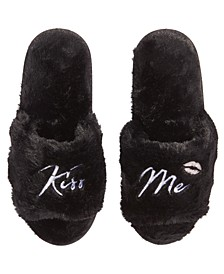 Women's Faux-Fur Kiss Me Slippers, Created for Macy's