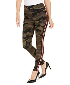 INC Camo-Print Tuxedo Stripe Leggings, Created For Macy's