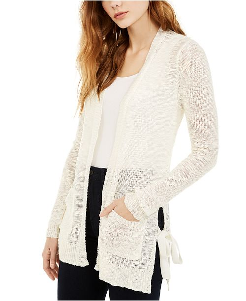 Hooked Up by IOT Juniors' Side-Tie Cardigan