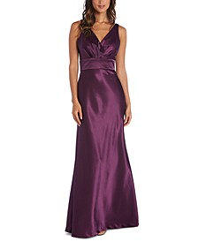 Surplice Satin Gown