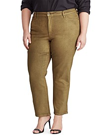 Plus Size Regal Straight Ankle Jeans
