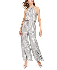 Embellished Metallic Jumpsuit