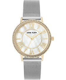 Women's Stainless Steel Mesh Bracelet Watch 34mm