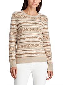 Petite Fair Isle Crewneck Sweater
