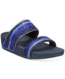 Rosa Crystal Mosaic Slide Sandals