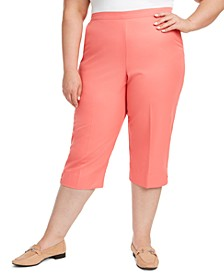 Plus Size Miami Beach Pull-On Capris