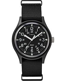 Men's MK1 Black Fabric Strap Watch 40mm