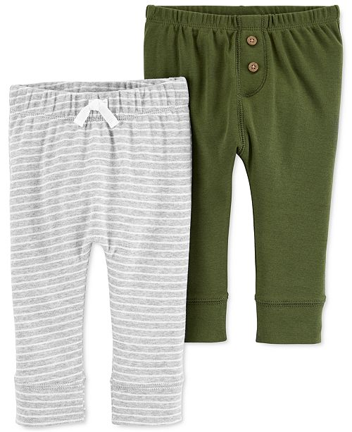 Carter's Baby Boys 2-Pk. Cotton Pull-On Pants