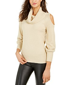 Cold-Shoulder Cowl-Neck Sweater, Created For Macy's