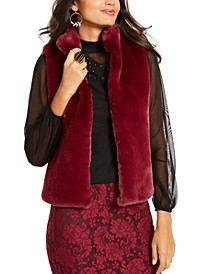 Faux-Fur Vest, Created For Macy's