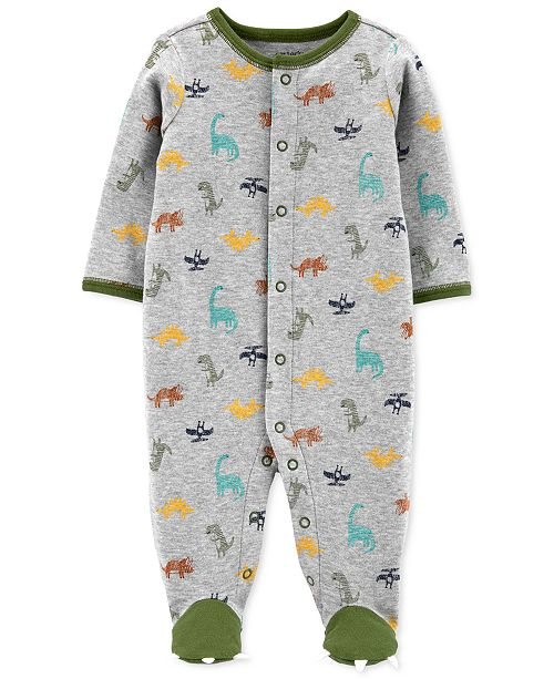 Carter's Baby Boys Dinosaur-Print Cotton Footed Coverall