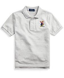 Little Boys Parka Bear Cotton Mesh Polo