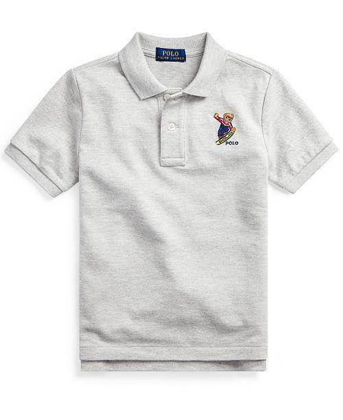 Polo Ralph Lauren Little Boys Parka Bear Cotton Mesh Polo
