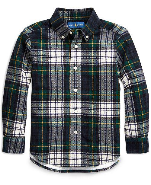Polo Ralph Lauren Little Boys Tartan Cotton Corduroy Shirt