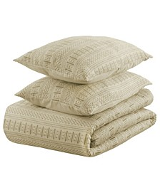Matelasse Ivory Duvet Collection