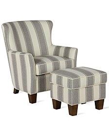 Simmons Accent Chair and Ottoman Set