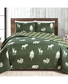 Great Bay Home Rio Ridge Collection Lodge Print Quilt Set