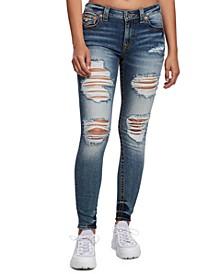 Jennie Ripped Super-Skinny Jeans