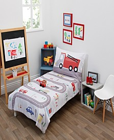 Road Trip 4-Piece Toddler Bedding Set