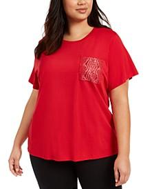 Plus Size Embellished T-Shirt