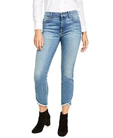 Cropped Raw Hem Skinny Jeans