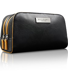 Receive a Complimentary Dopp Kit with any large spray purchase from the BVLGARI Men's fragrance collection