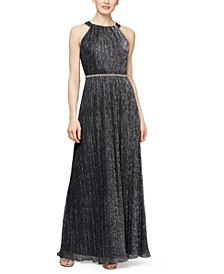 Metallic Bead Maxi Dress
