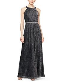 Metallic Bead Maxi Dress