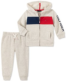 Baby Boys 2-Pc. Fleece Zip-Up Hoodie & Jogger Pants Set