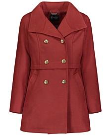 Big Girls Faux Wool Military Coat