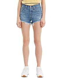 501 Cotton High-Rise Denim Shorts