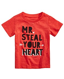 Baby Boys Heart-Print Cotton T-Shirt, Created For Macy's
